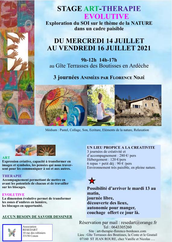 Stage Ardèche Juillet 2021